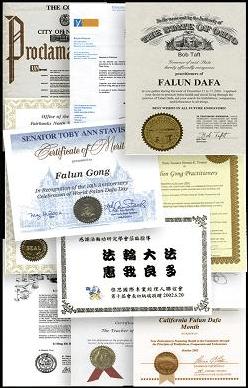 награды, Фалуньгун, признание